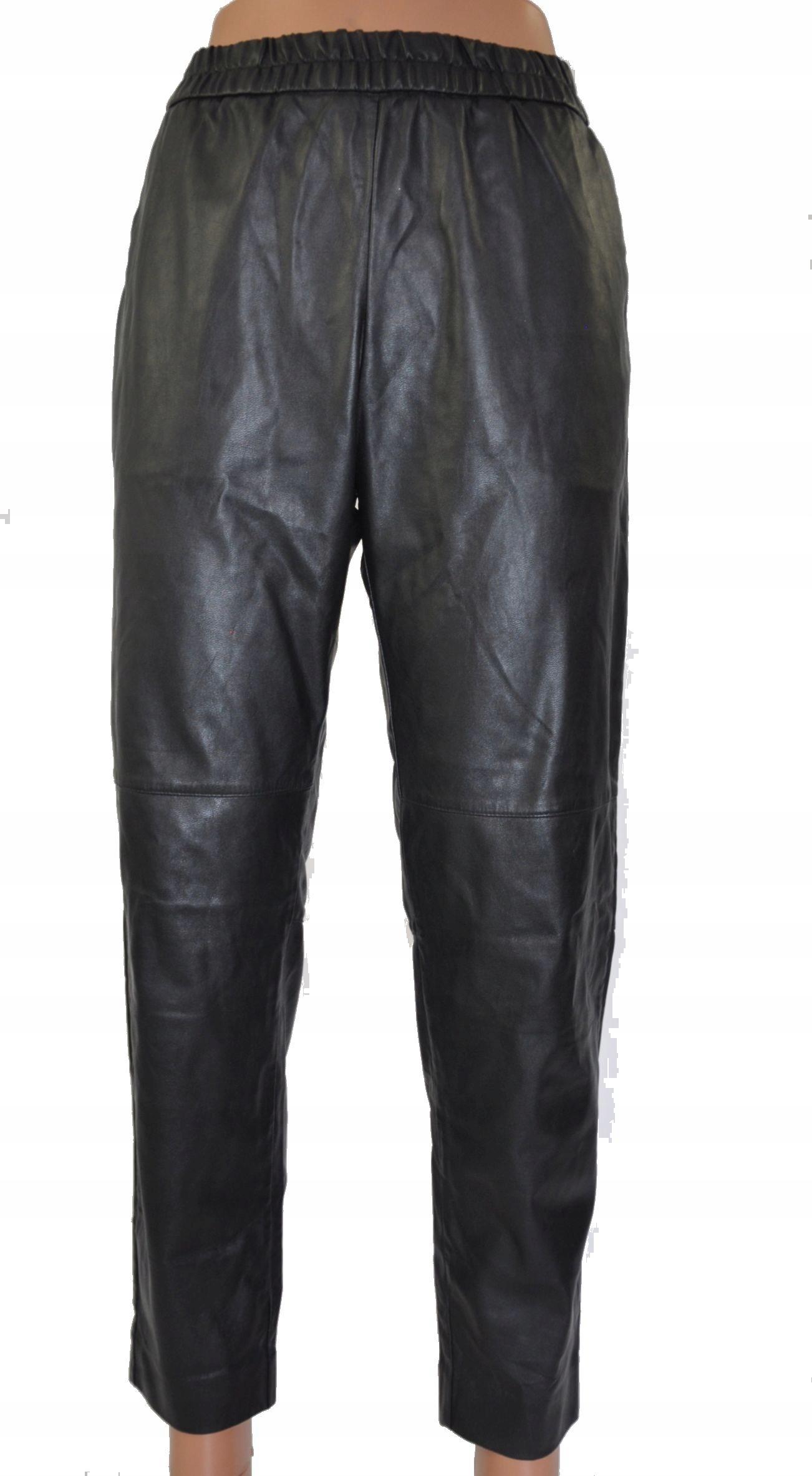 H&M spodnie damskie eco skóra ocieplone 40 L