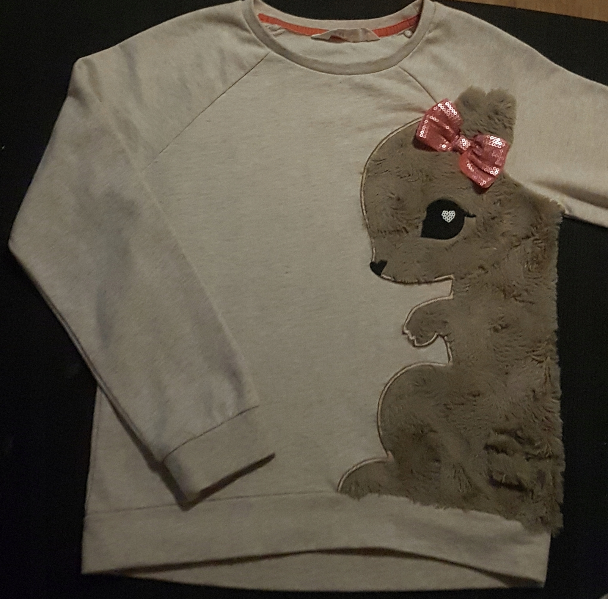 Bluza H&M 134cm 9lat piekna modna kokarda