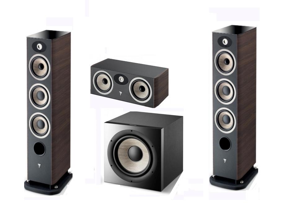 Zestaw Set FOCAL ARIA 926 + CC900 + SUB1000 orzech