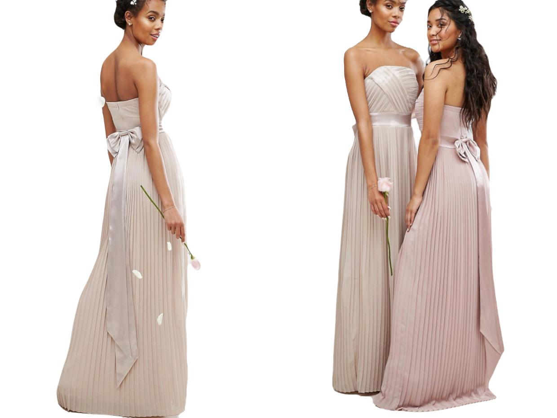 TFNC WEDDING Plisowana Sukienka Maxi XS/34
