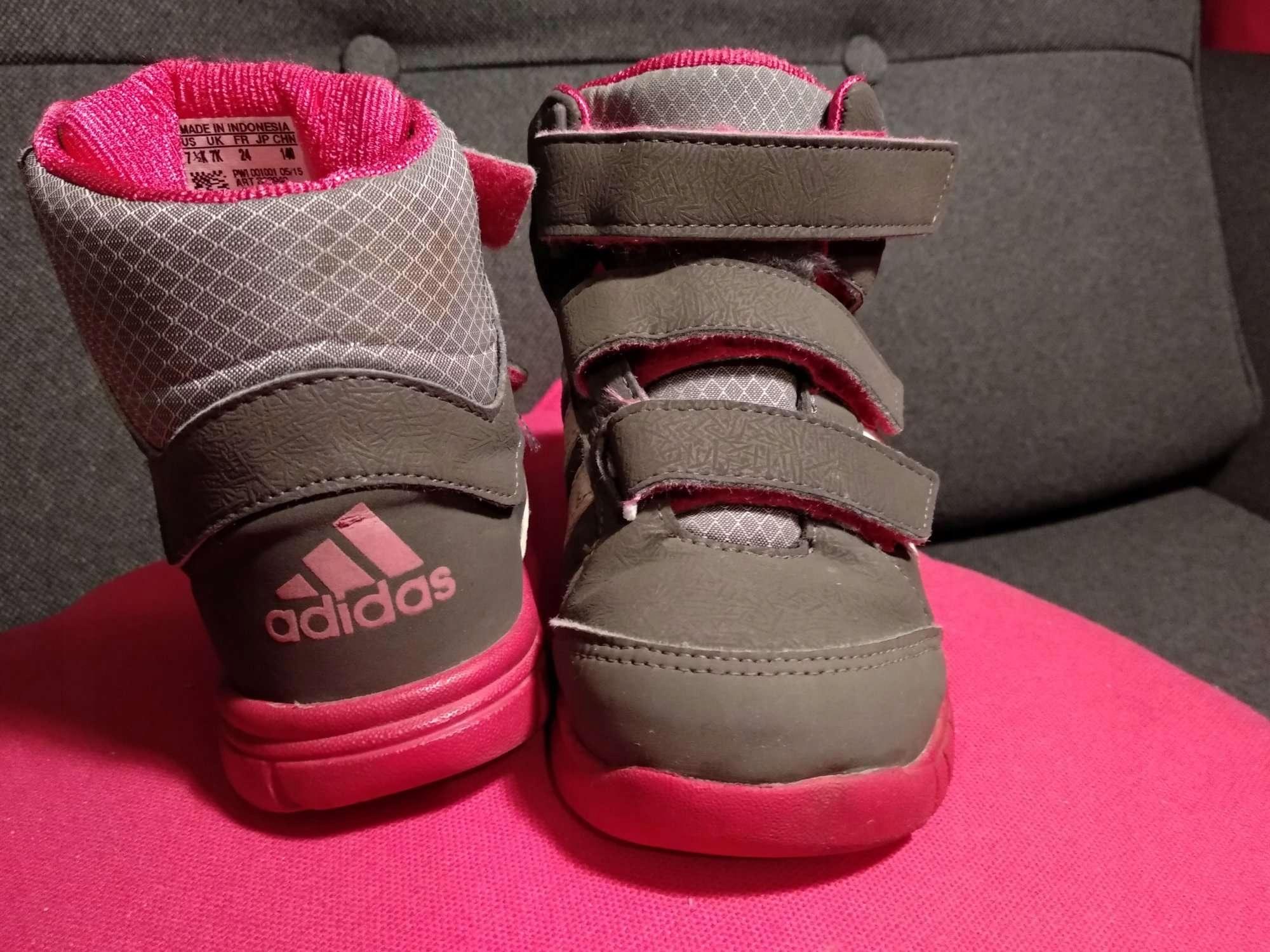 buty zimowe śniegowce Adidas rozm. 24 stan bdb