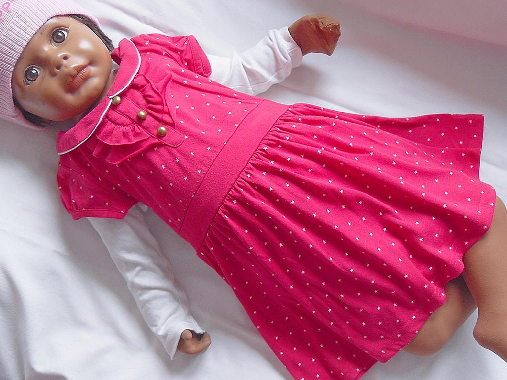 Sukienka kr. rękaw GIRL, 98cm, 2-3 lata