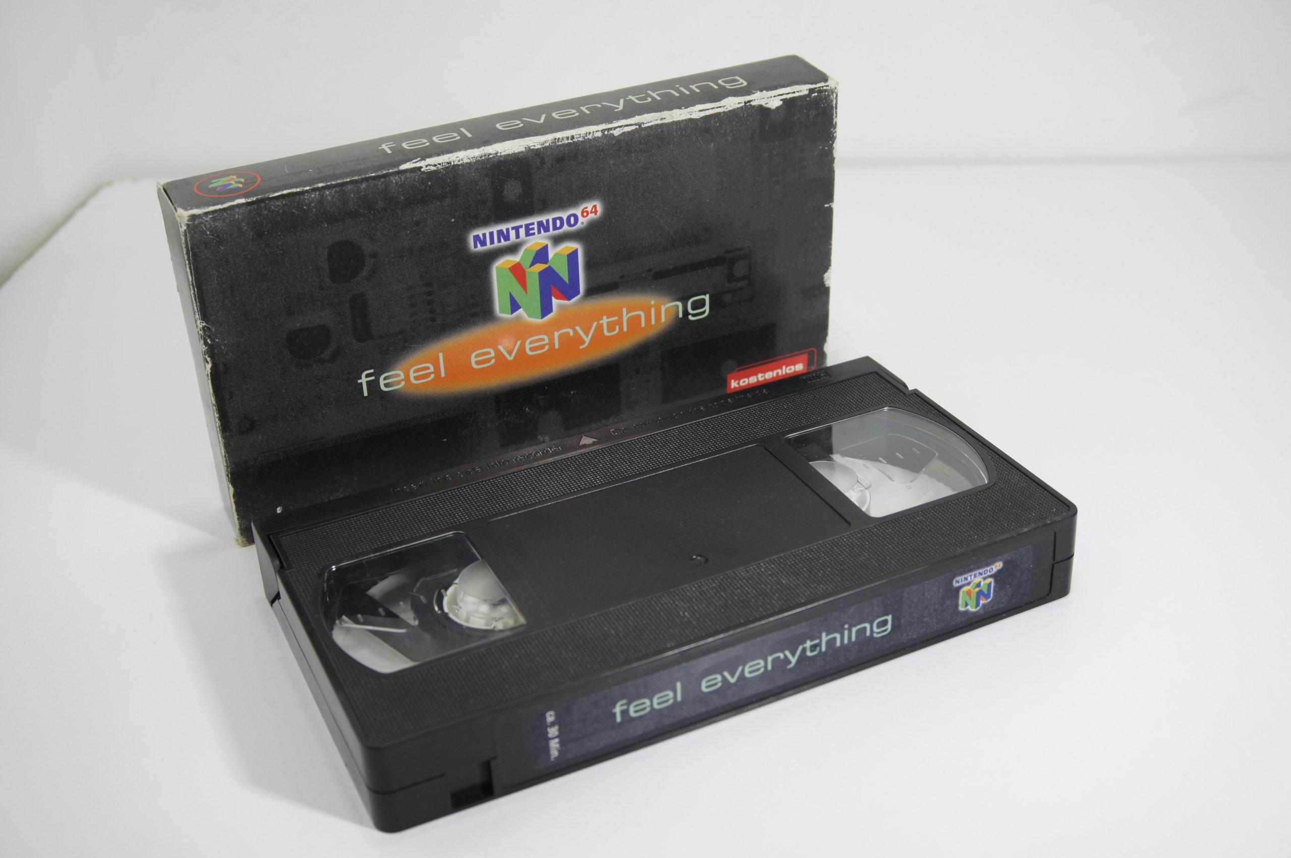 Nintendo 64 N64 Kaseta VHS Feel Everything Unikat