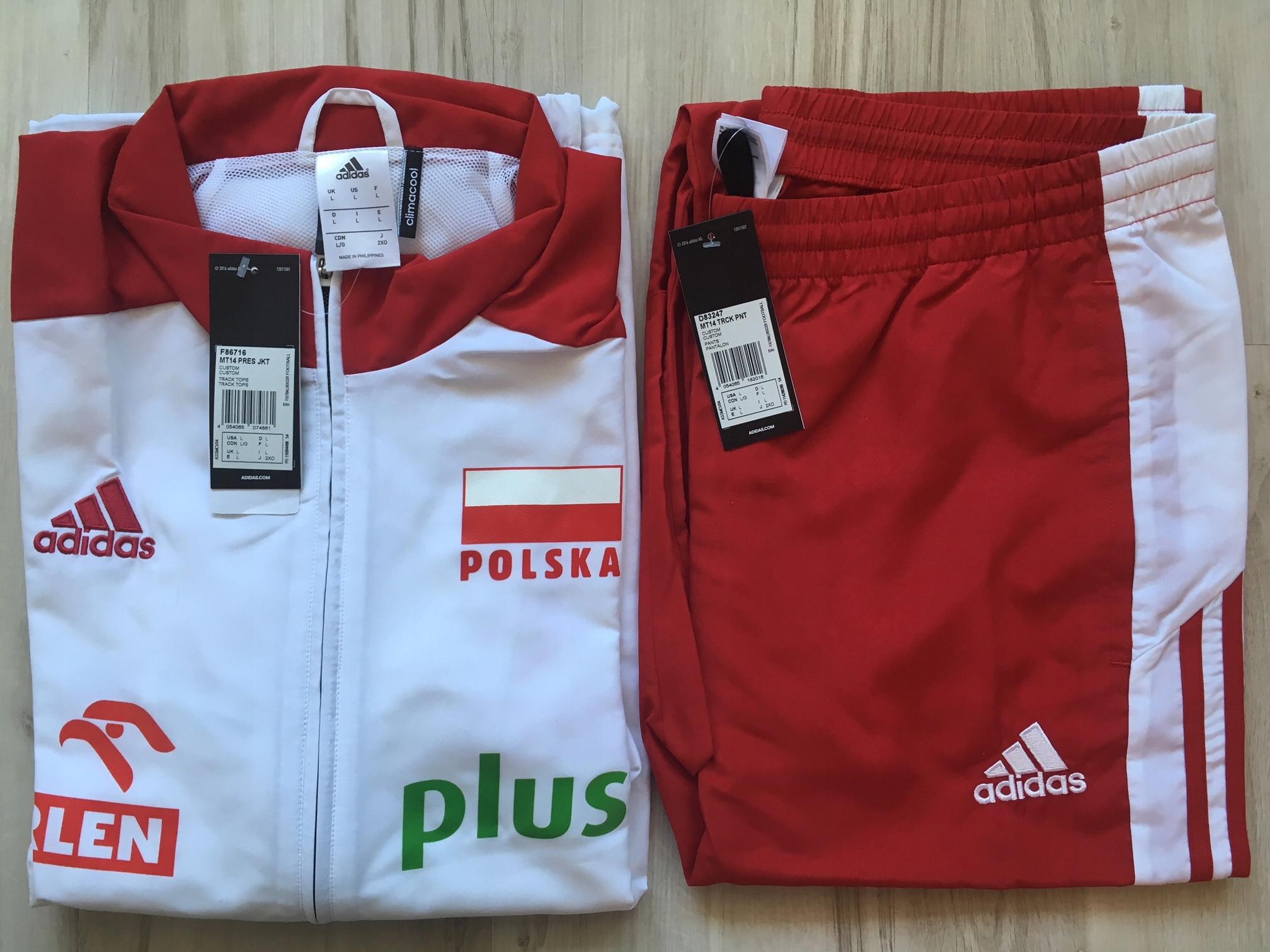 w magazynie naprawdę wygodne w sprzedaży hurtowej Dres Reprezentacji Polski Adidas L