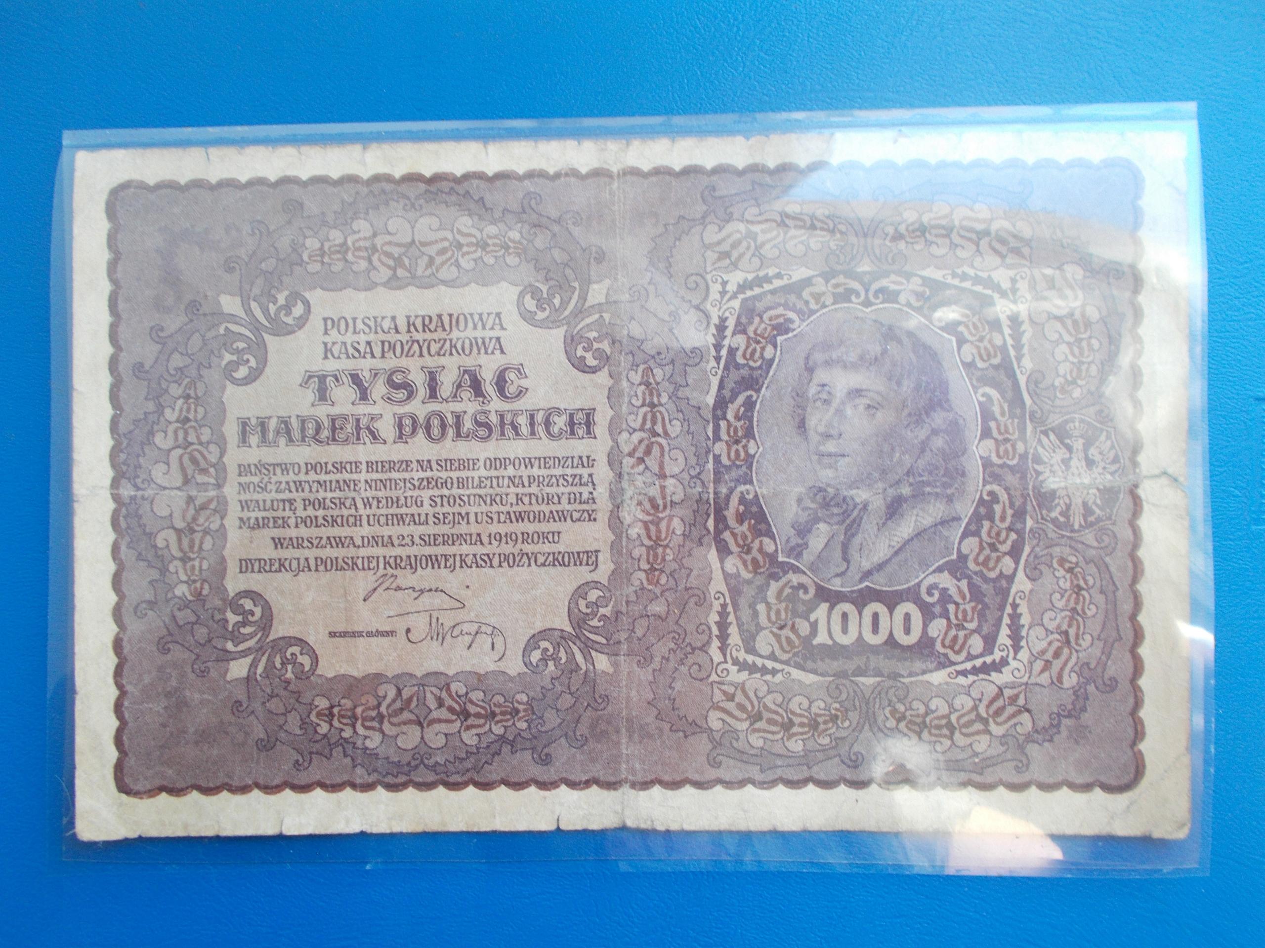 1 000 MAREK POLSKICH-1919-I Serja BN-rzadki