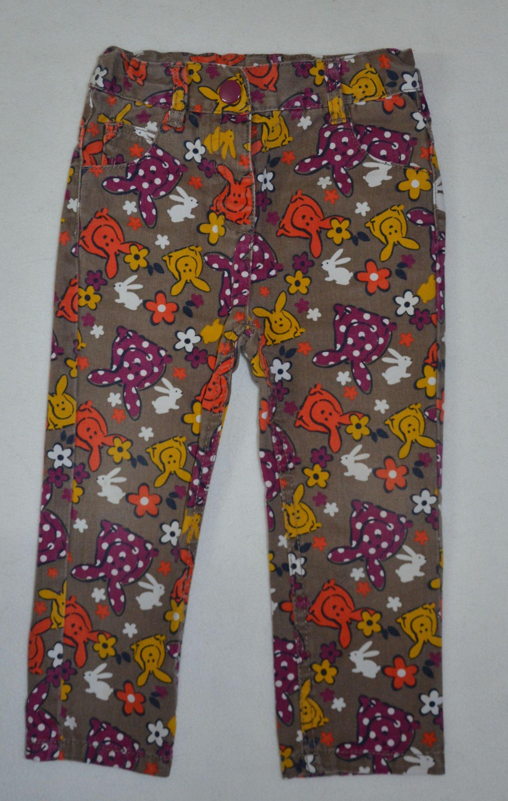 Jeansy spodnie kolorowe r. 92/98