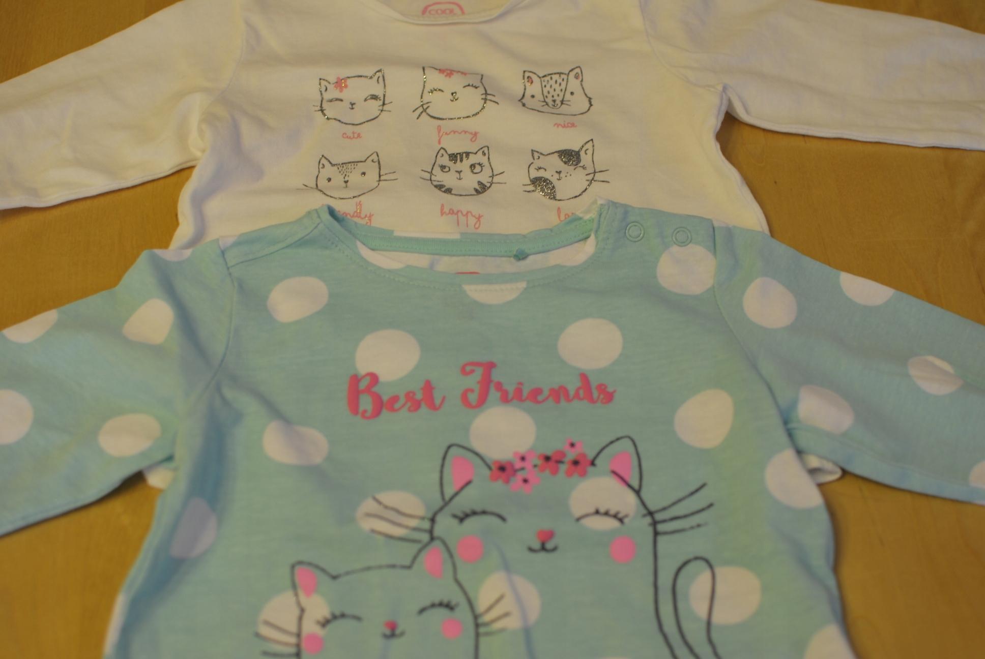 bluzeczki dla dziewczynki 68 cm