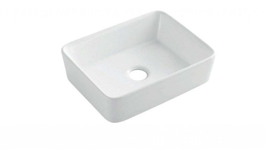 INVENA NYKS umywalka nablatowa 48x38 cm. biała