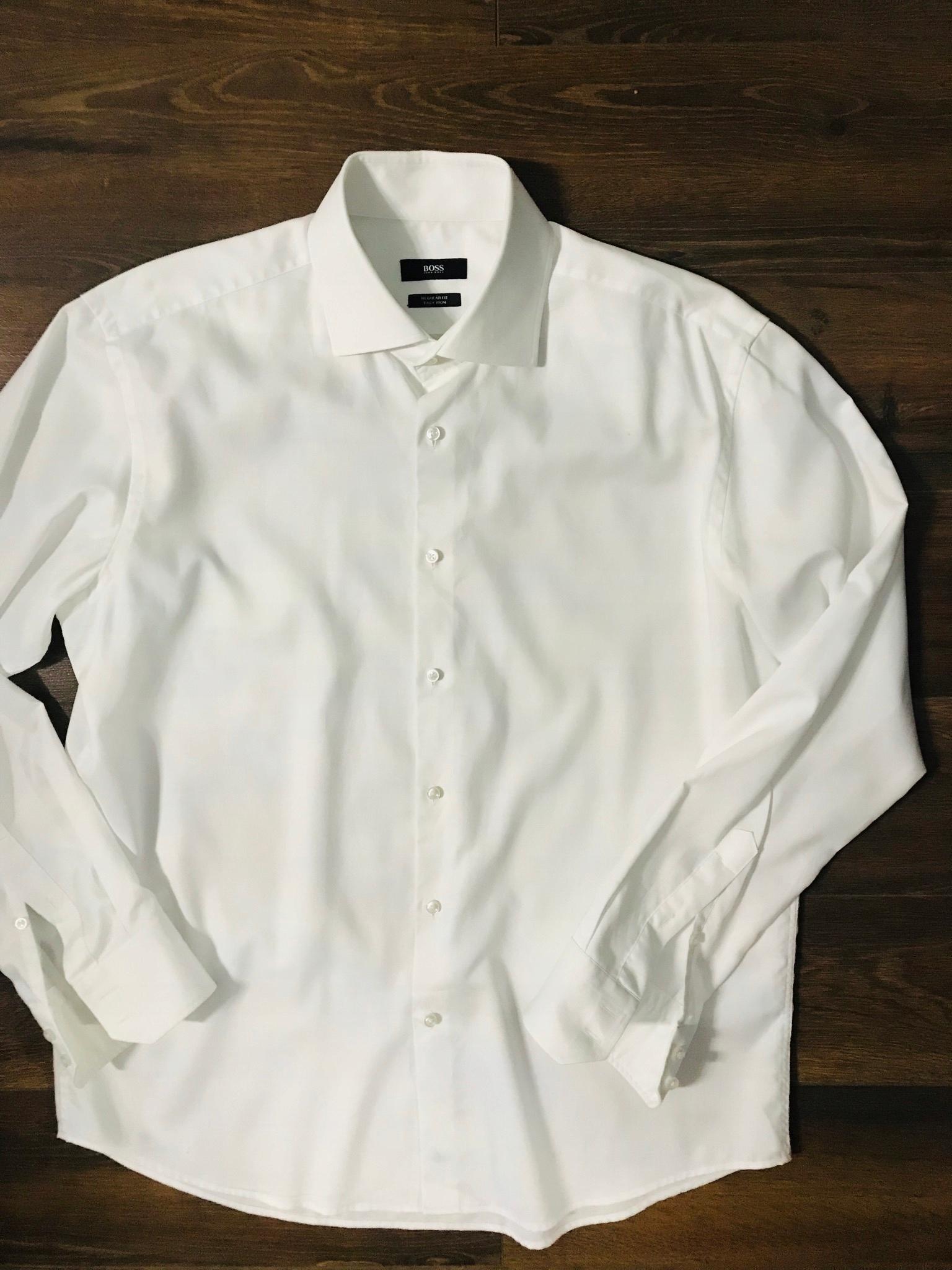 koszula męska Hugo Boss 43 biała ideał jak nowa