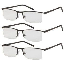 Okulary do czytania 3 szt +3 metalowa oprawka