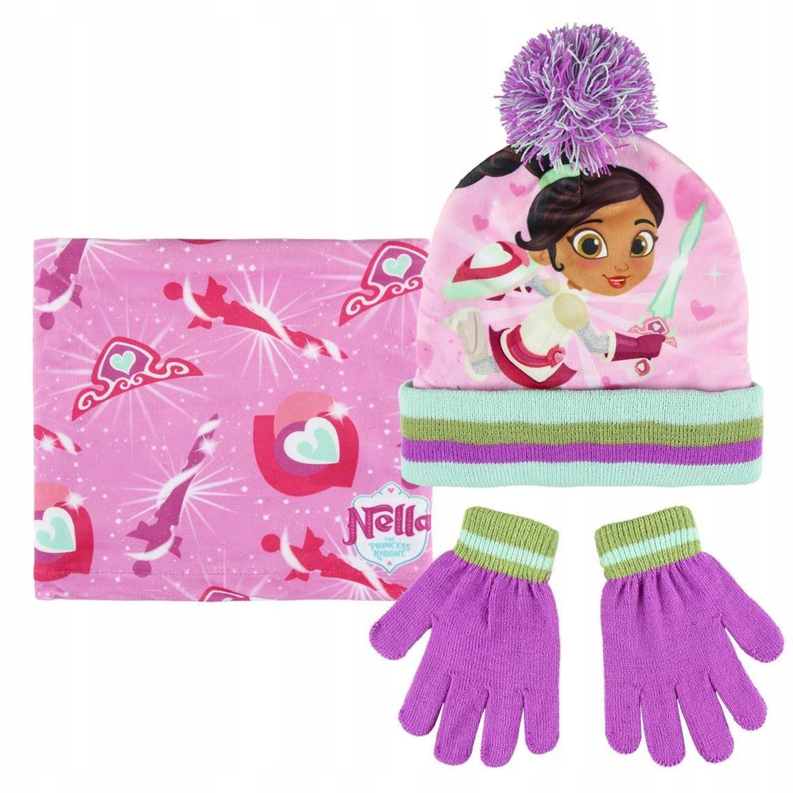 Komplet: czapka jesienna / zimowa, komin i rękawic