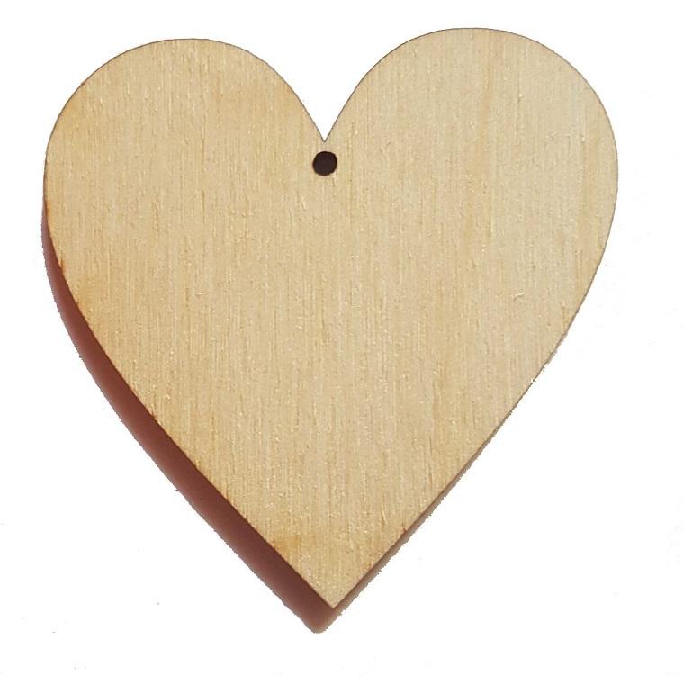 Drewniane serce 5cm z zawieszką Decoupage scrapki