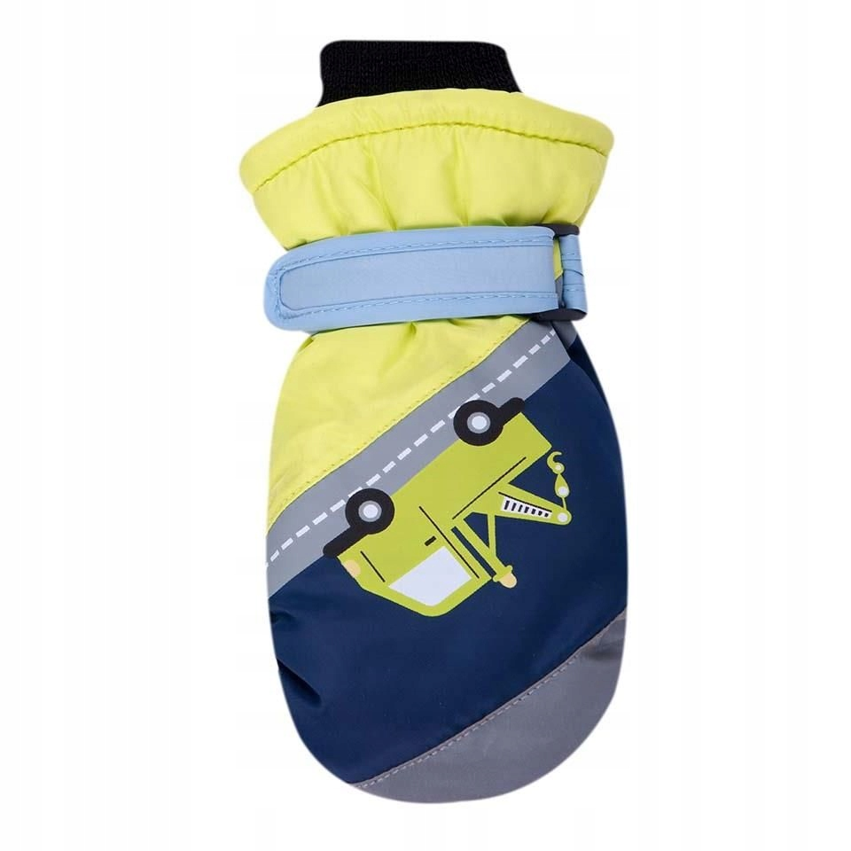 Rękawiczki narciarskie granatowo-żółte pomoc drogo
