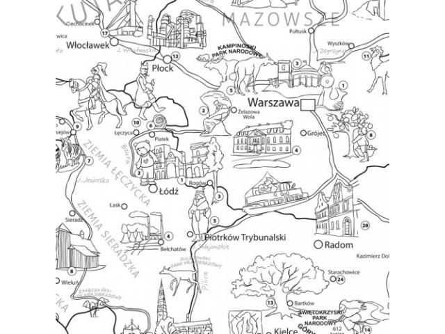Mapa Polski Kolorowanka Edukacyjna Xxl 1400x1000 7530685603