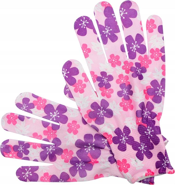 Rękawice robocze ogrodowe PU rozm.8