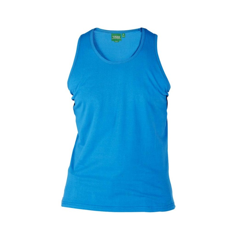 FABIO-D555 Duża Koszulka Niebieska 2XL
