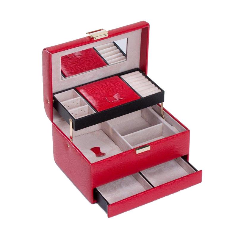 e22322234d37f Monnari Kuferek na biżuterię A980 czerwony prezent - 6999842780 ...