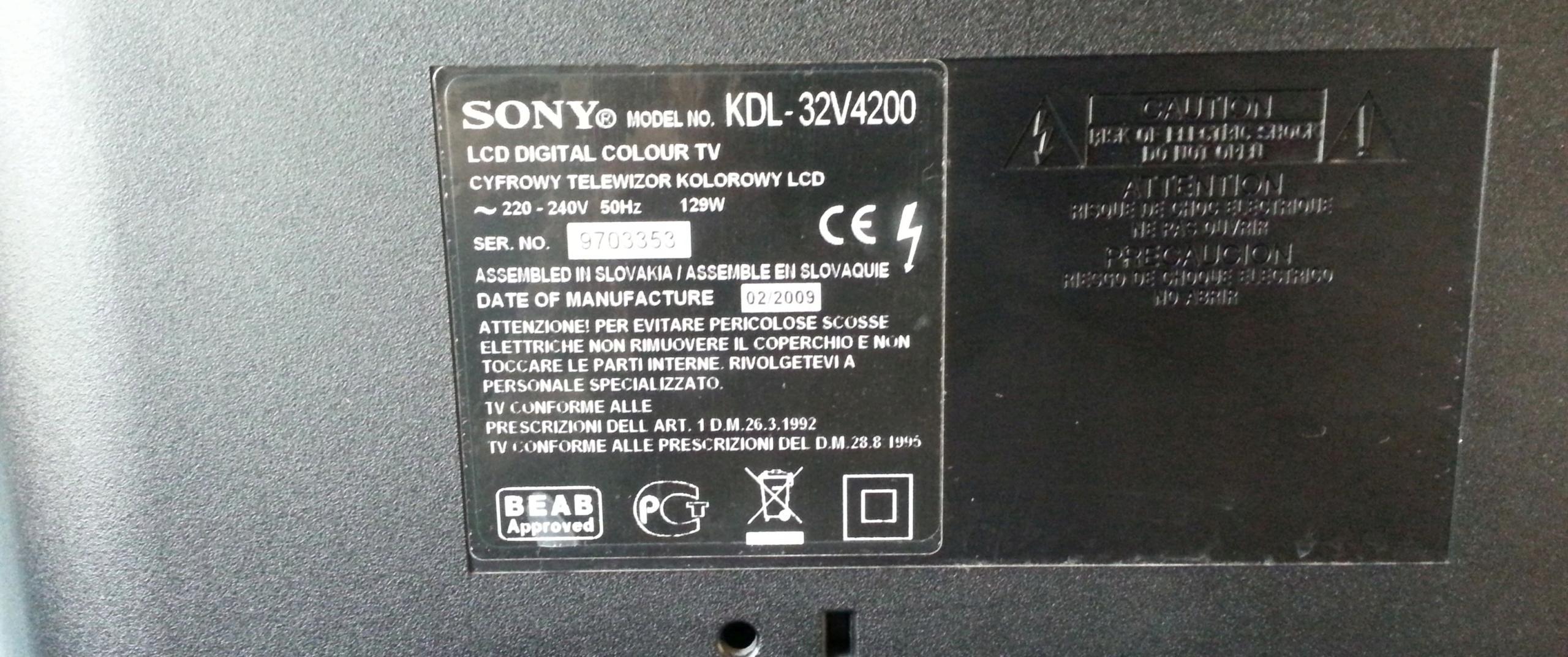 duży MONITOR Sony Bravia 32
