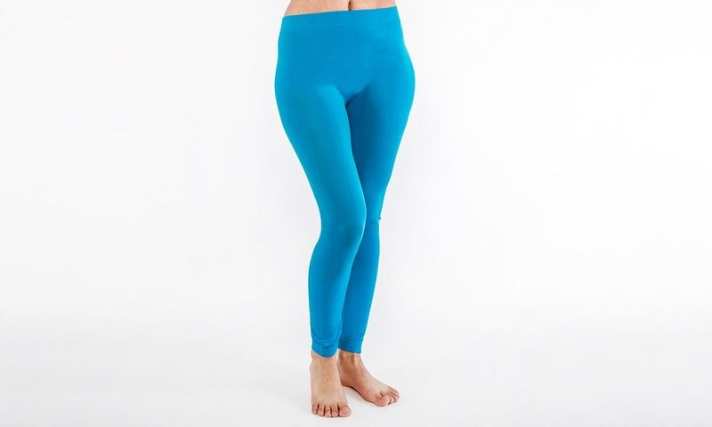 Legginsy Damskie Spodnie Niebieskie S/M