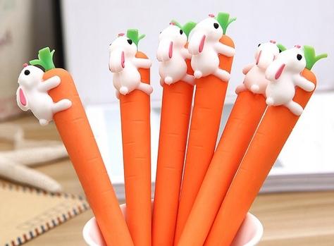 Zabawny długopis cienkopis marchewka królik