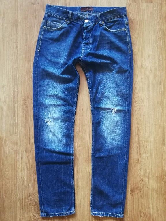 ZARA MAN jeansy ścierane UK 34 eur 44
