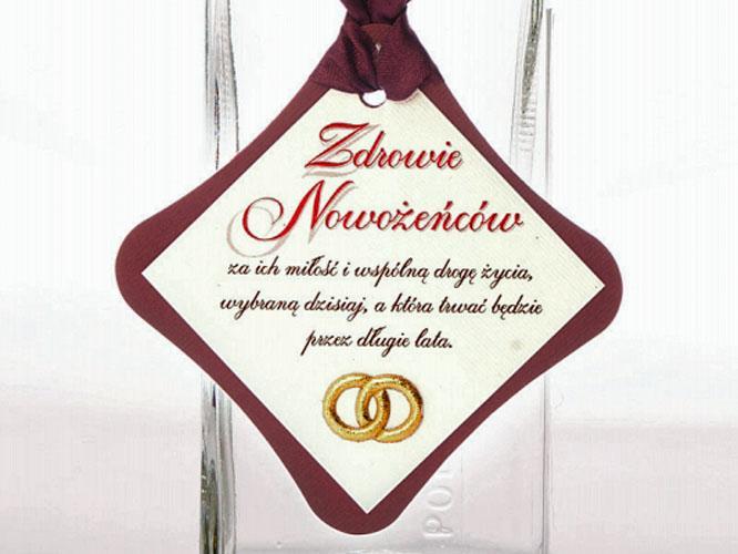 Etykiety kartonowe na wódkę butelki ZWB30 25szt.