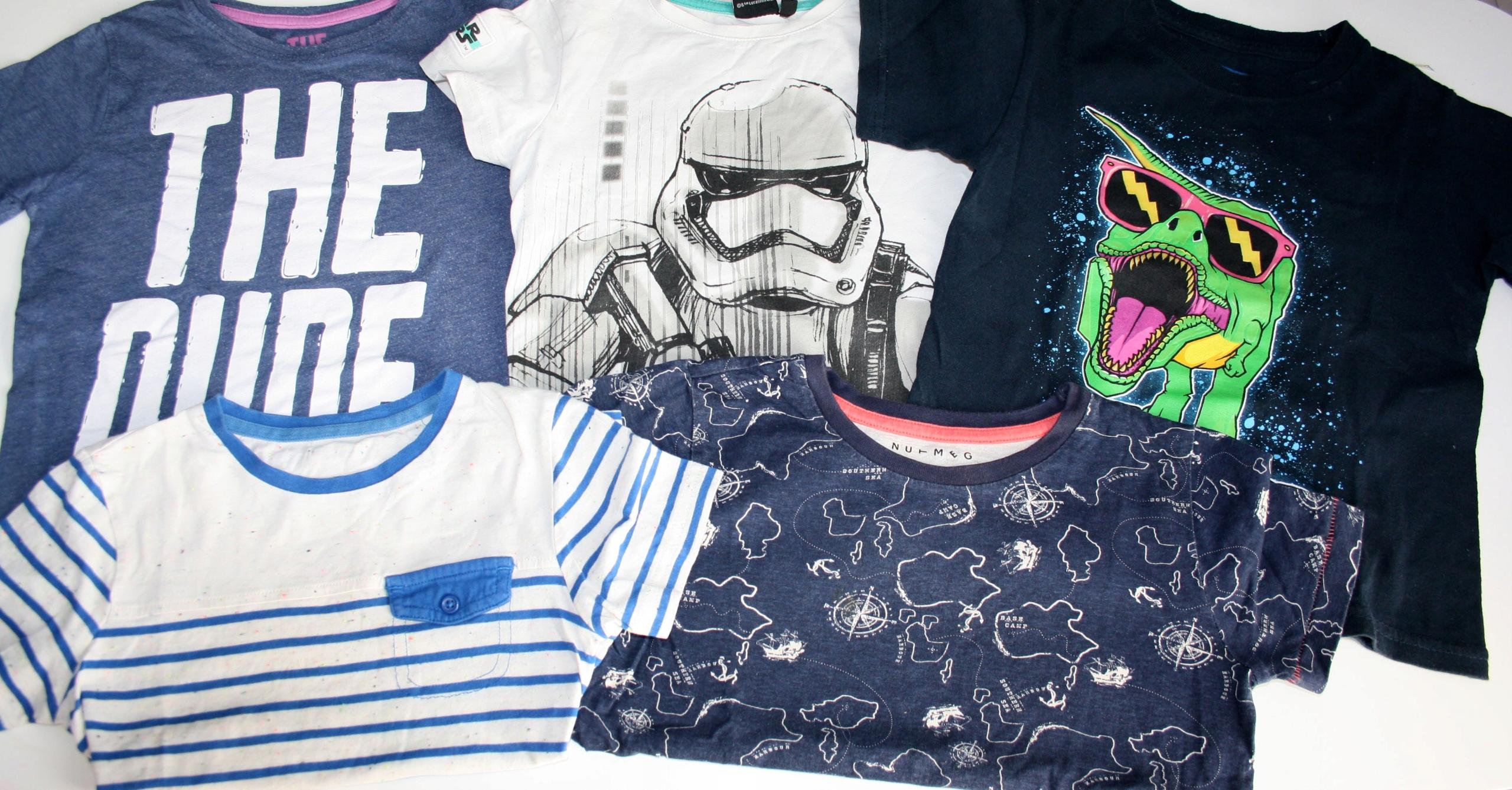 5x bluzka 4-5 lat Rebel, Nutmeg, Star Wars