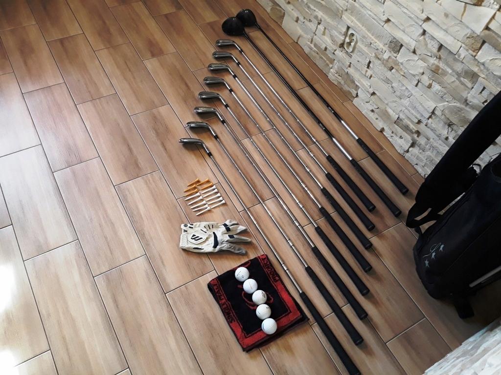 Kije do golfa golfowe torba zestaw piłeczki golf