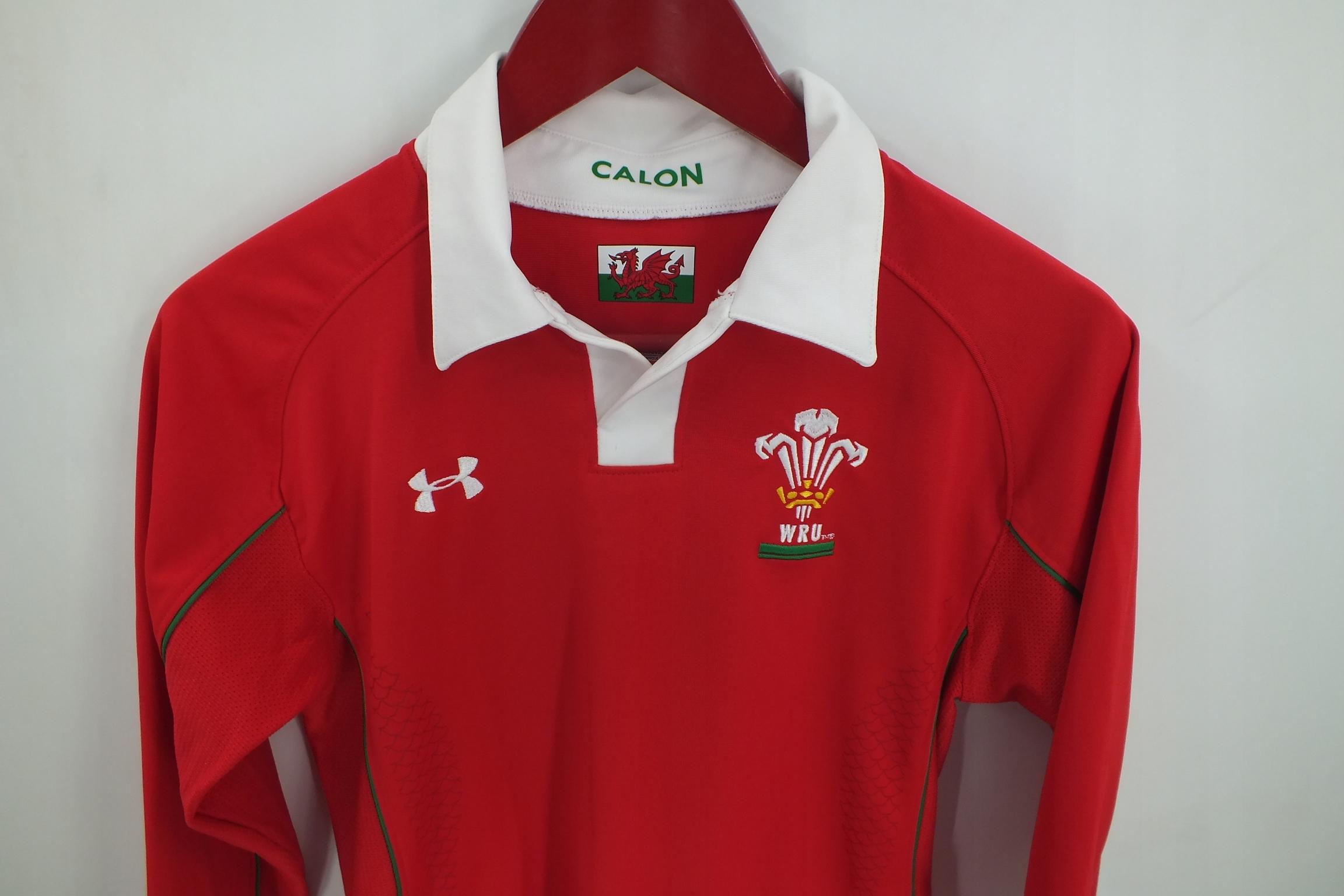 Under Armour Walia Wales Wru koszulka rugby YLG