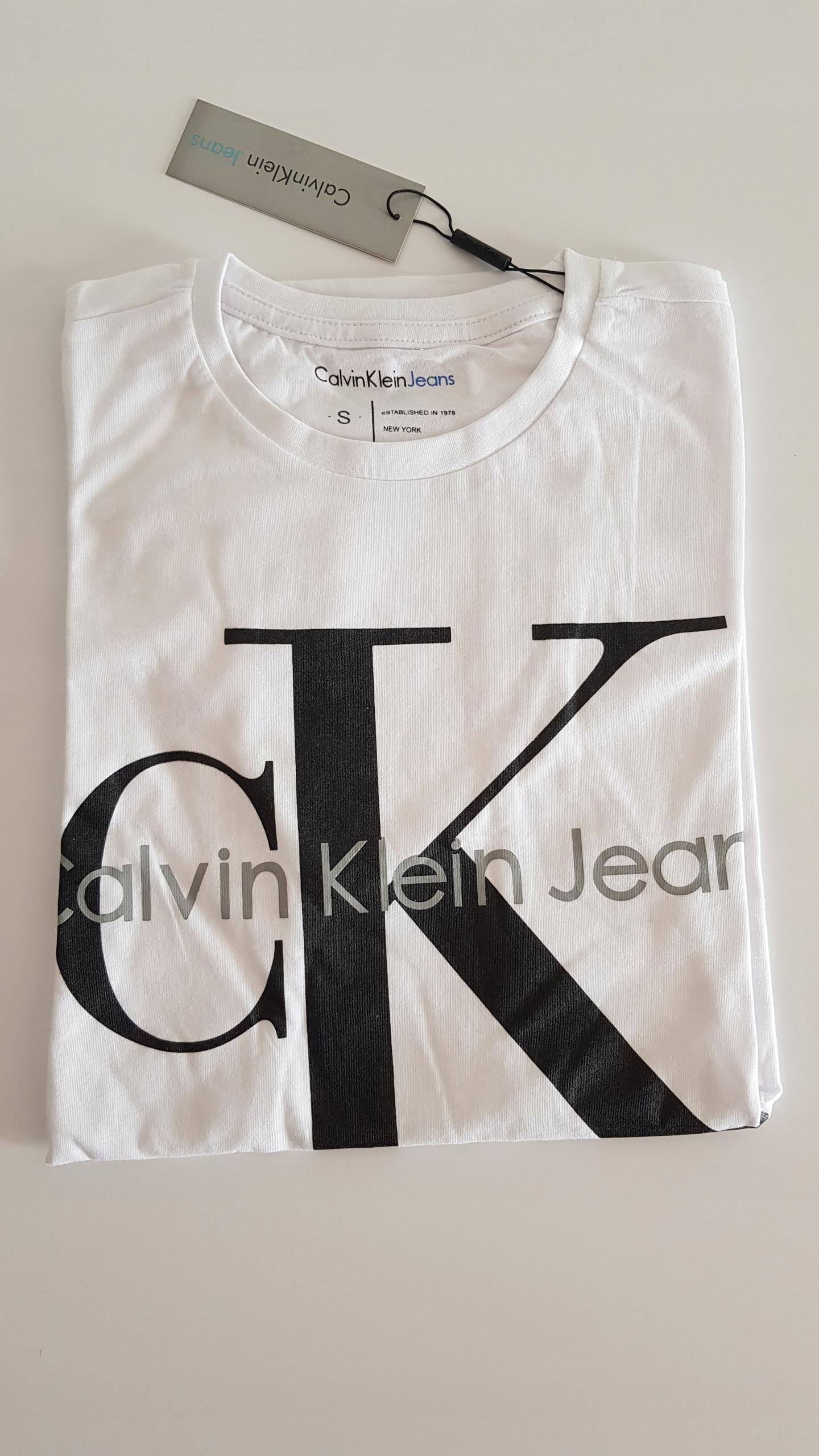 Koszulka ck t-shirt calvin klein biała / biały L