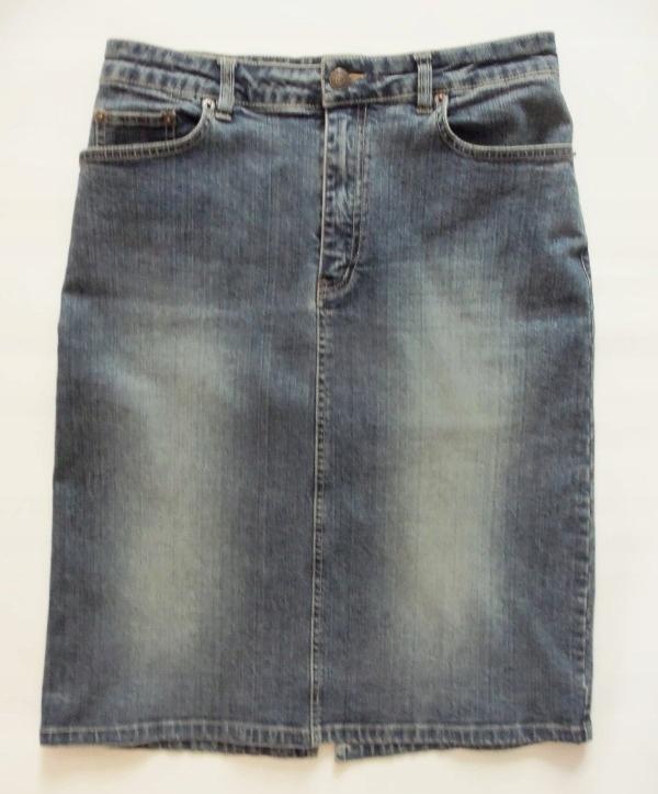 MOTO by TopShop jeansowa spódnica ołówkowa - 38/40