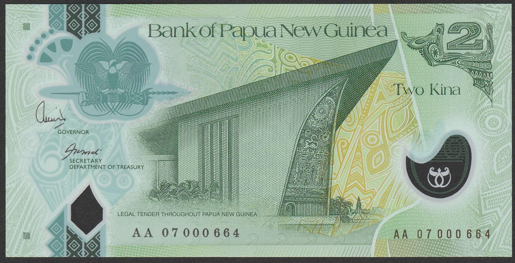 Papua Nowa Gwinea - 2 kina - stan UNC AA