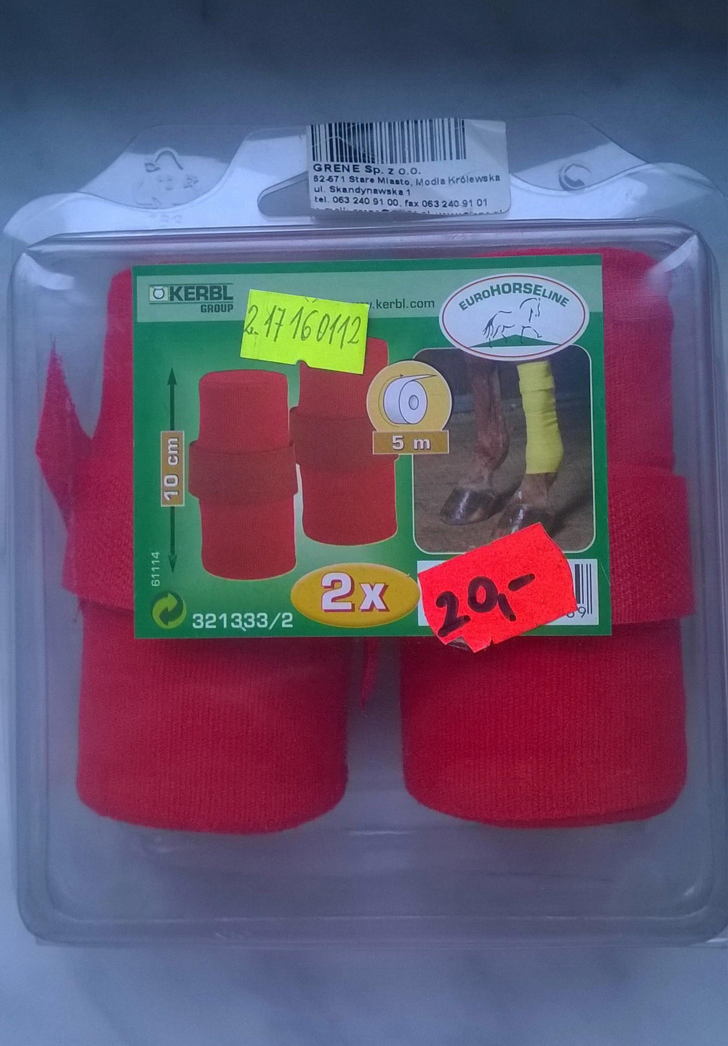 Owijki elastyczne EuroHorseLine czerwone 2szt