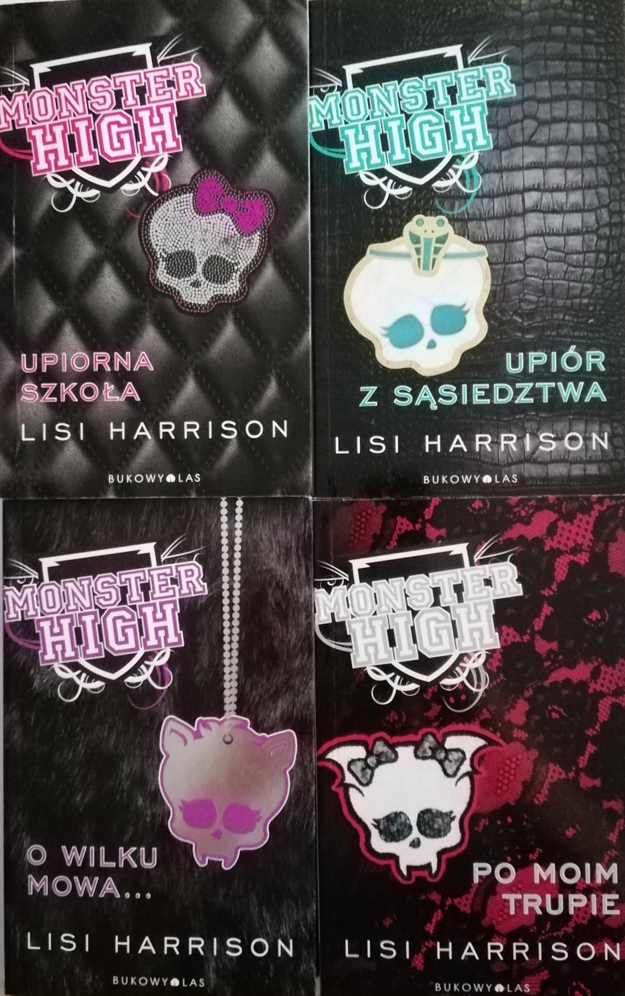 Monster High Lisi Harrison tomy 1-4 SPK
