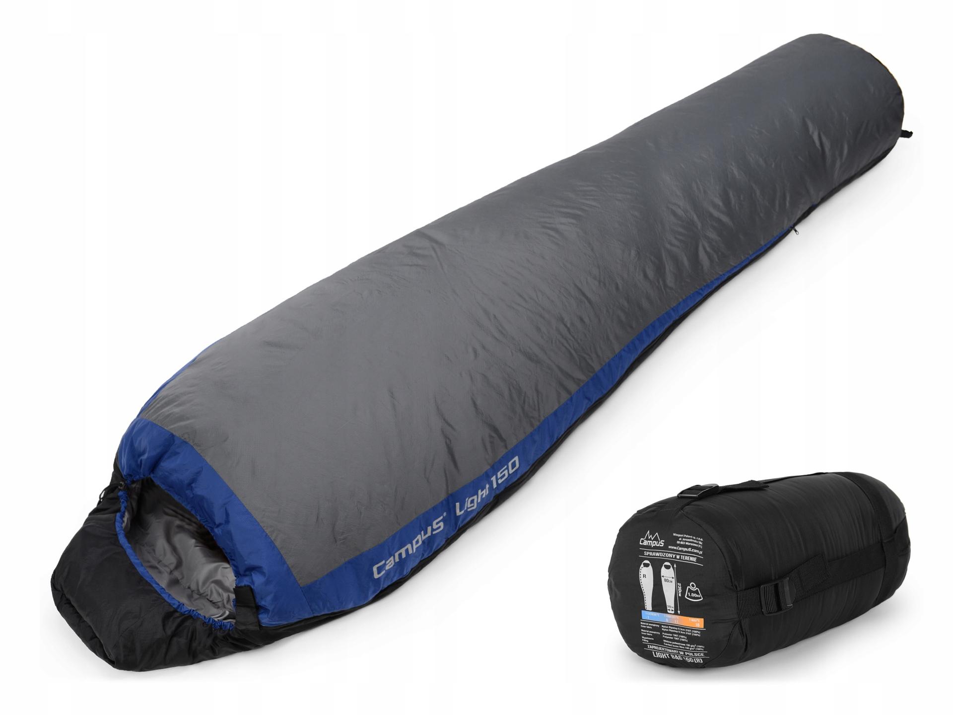 ULTRALEKKI ŚPIWOR MUMIA CAMPUS LIGHT BAG 150 1kg