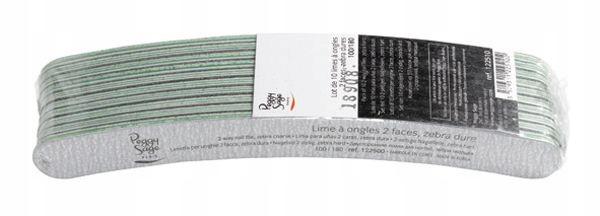 Peggy Sage Pack Of 10 2-way Nail Files Zebra Hard