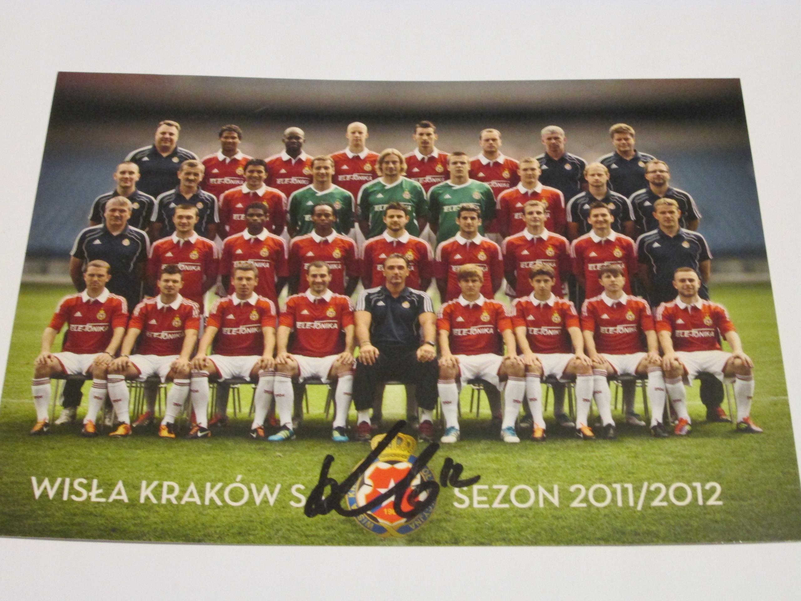 WISŁA KRAKÓW SEZON 2011/2012 ZDJĘCIE CAŁY SKŁAD