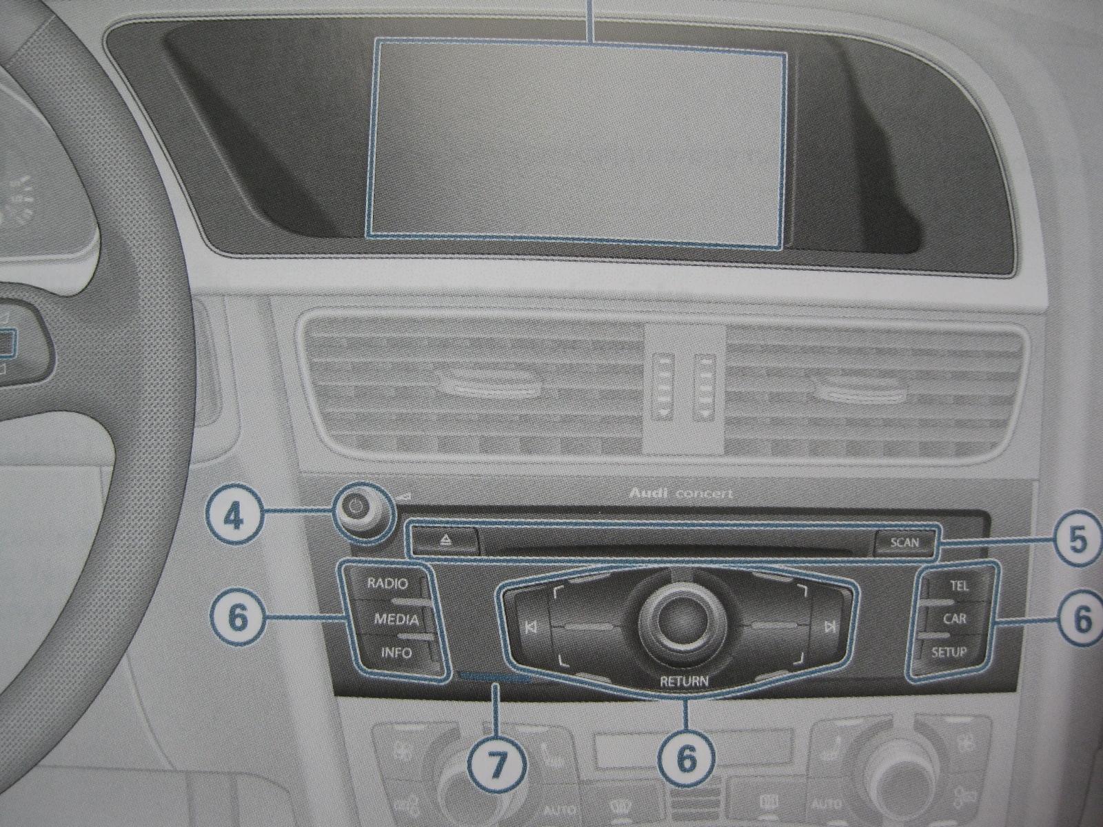 Audi A4 B8 instrukcja radia Concert Audi A5 Q5 PL