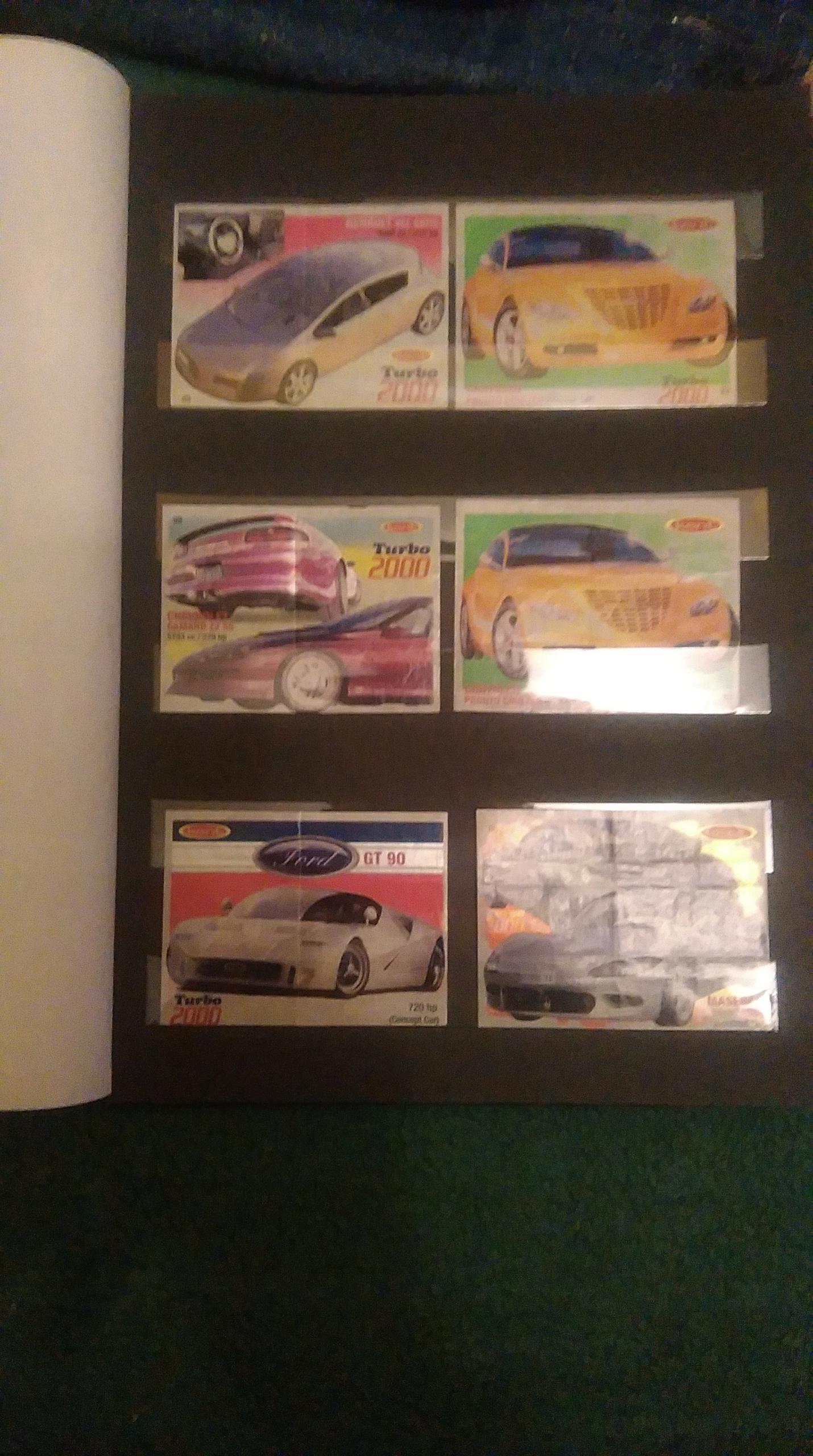 obrazki z gum Turbo 2000, 9szt.