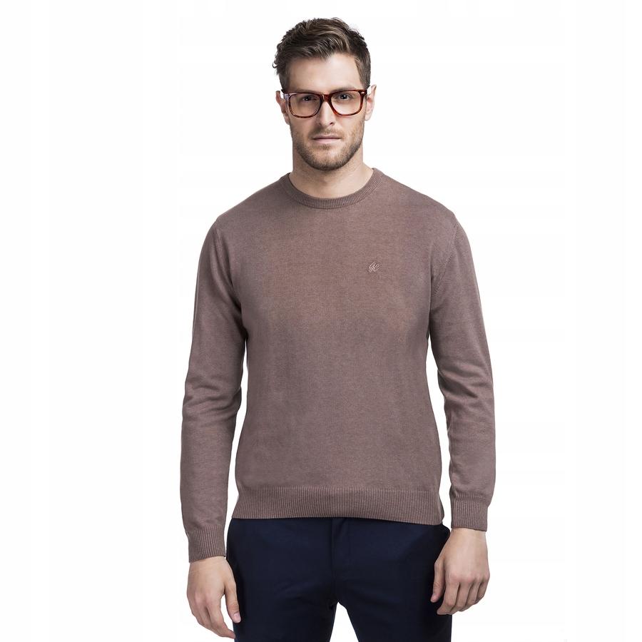 Sweter męski brązowy Giacomo Conti
