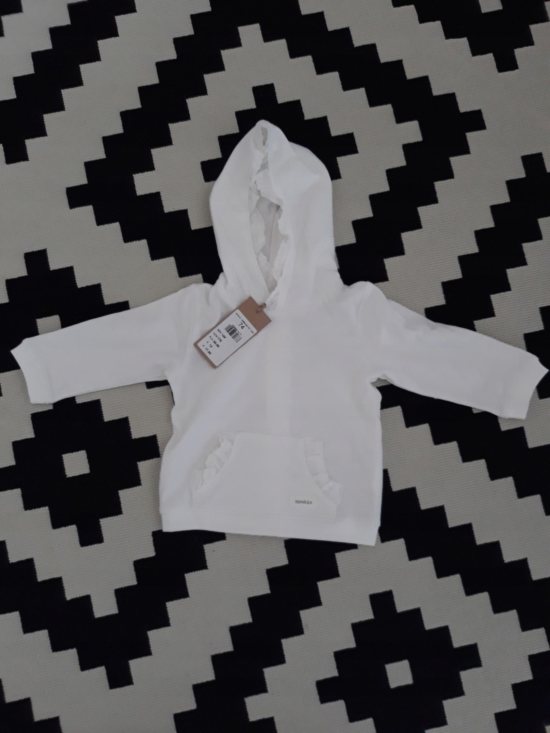 Bluza biała Newbie 74 NOWA