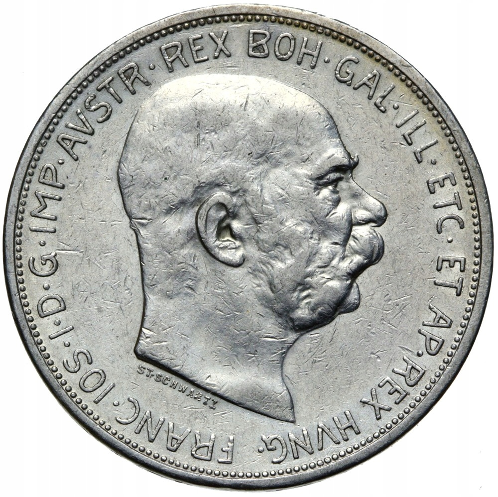 + Austria Franciszek Józef I - 5 Koron 1909 Srebro