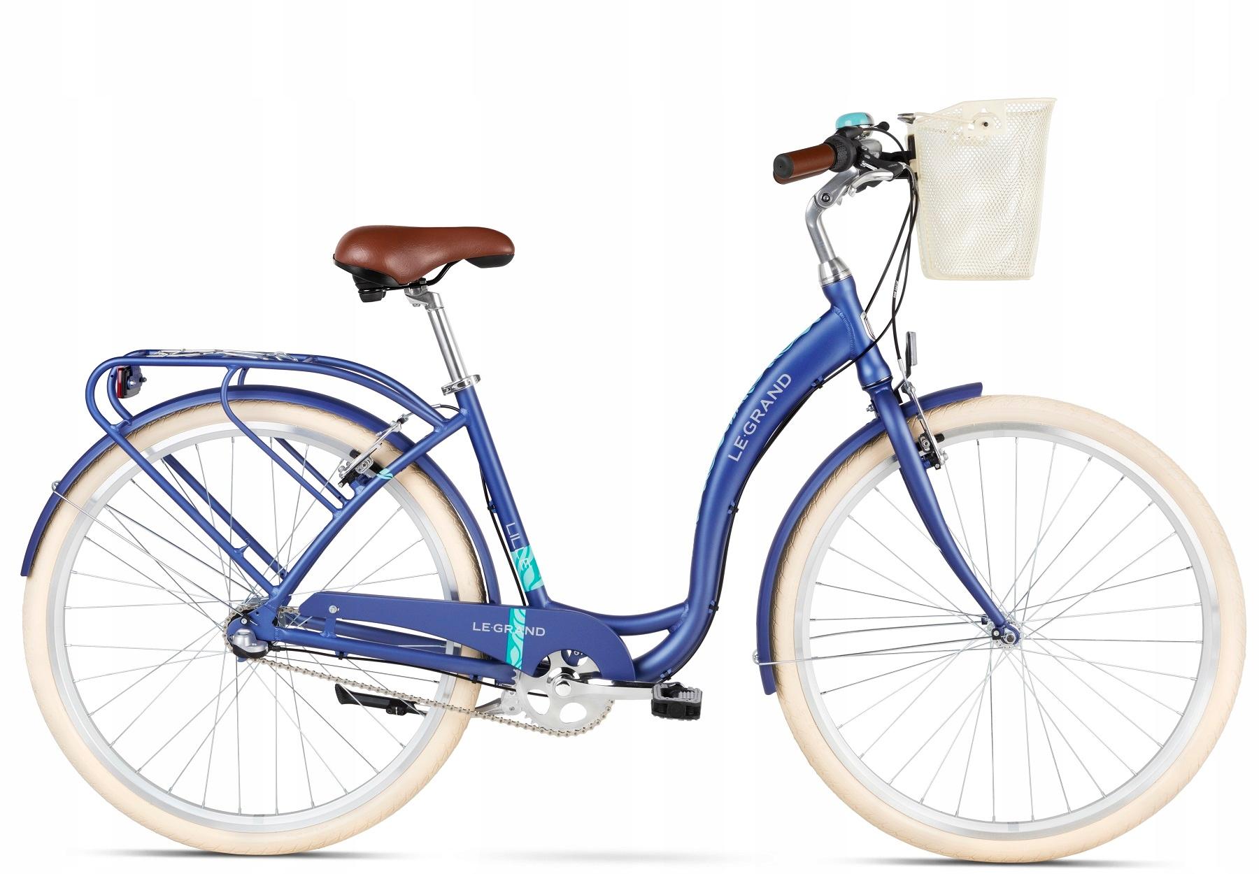 Rower miejski LE GRAND Lille 4 niebieski rama 19 L