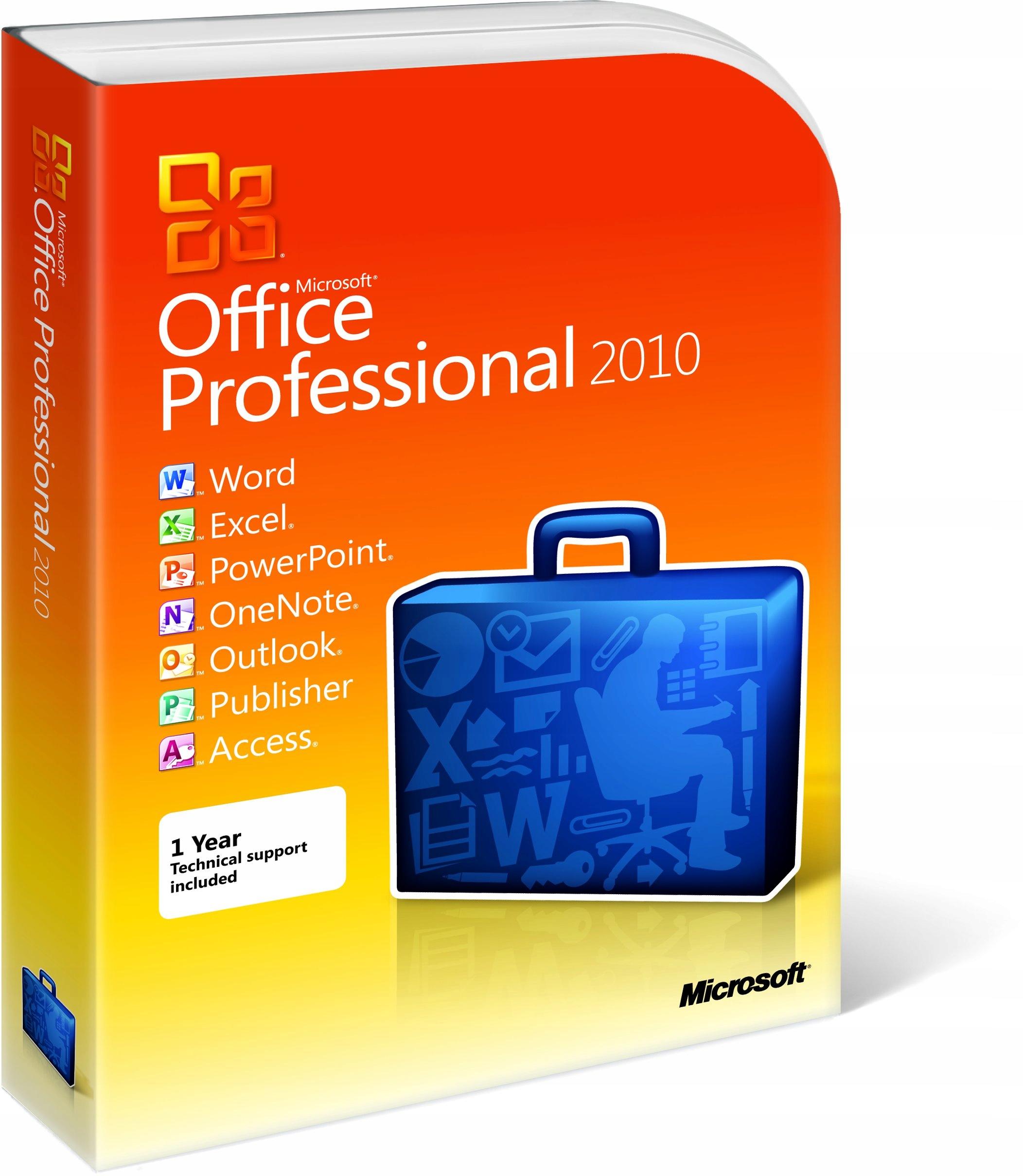 Office 2010 Professional BOX PL FV23%!
