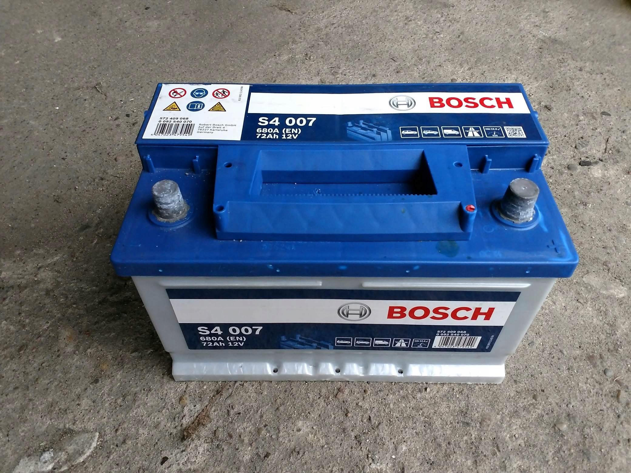 Akumulator Bosch S4007, 72AH, 680A - Stan Idealny!