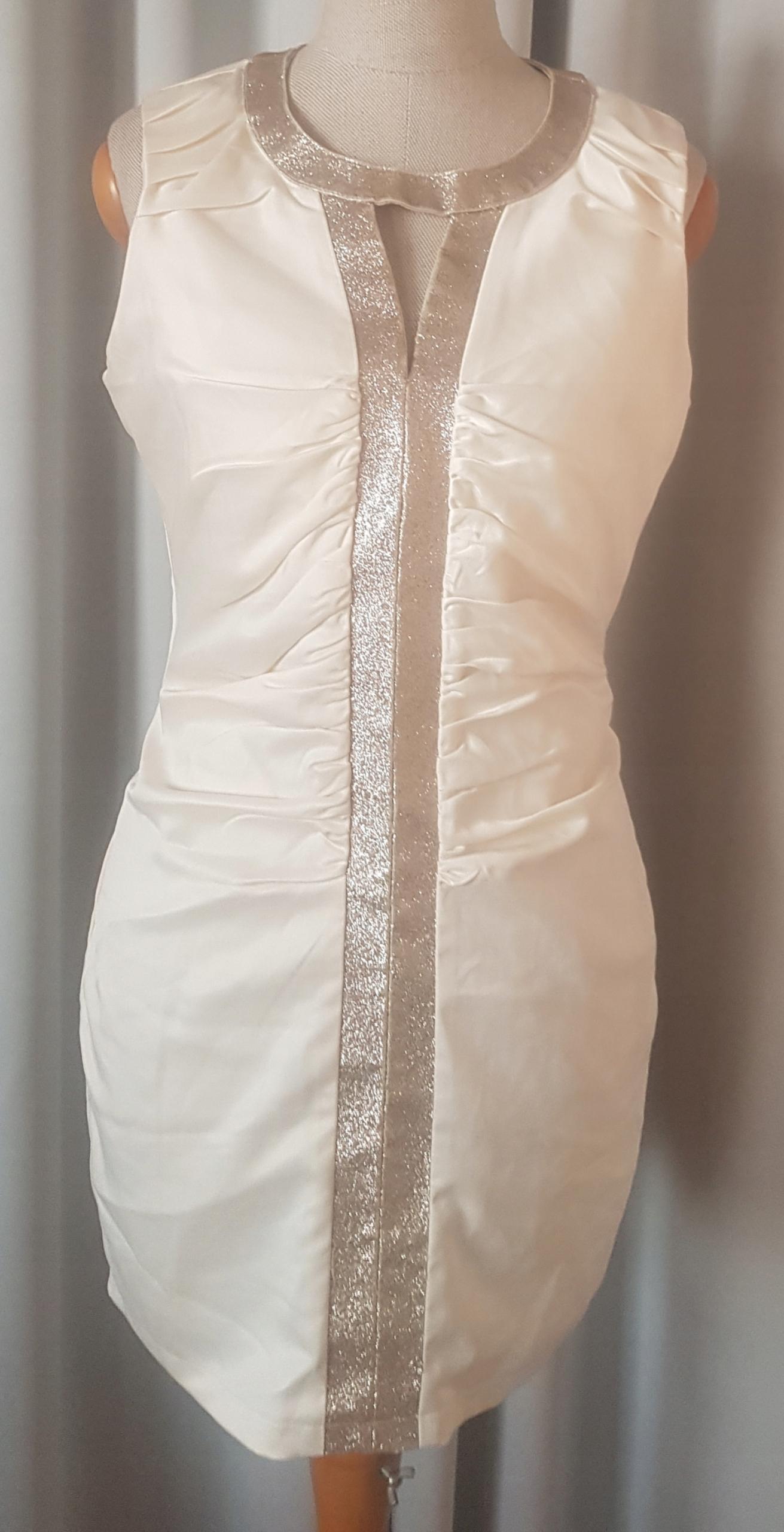 Sukienka Mohito 38 M piękna ecru stan idealny