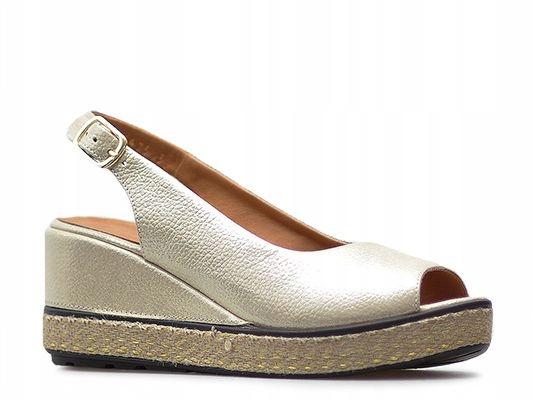 Sandały Badura 4710-69 złote lico_38