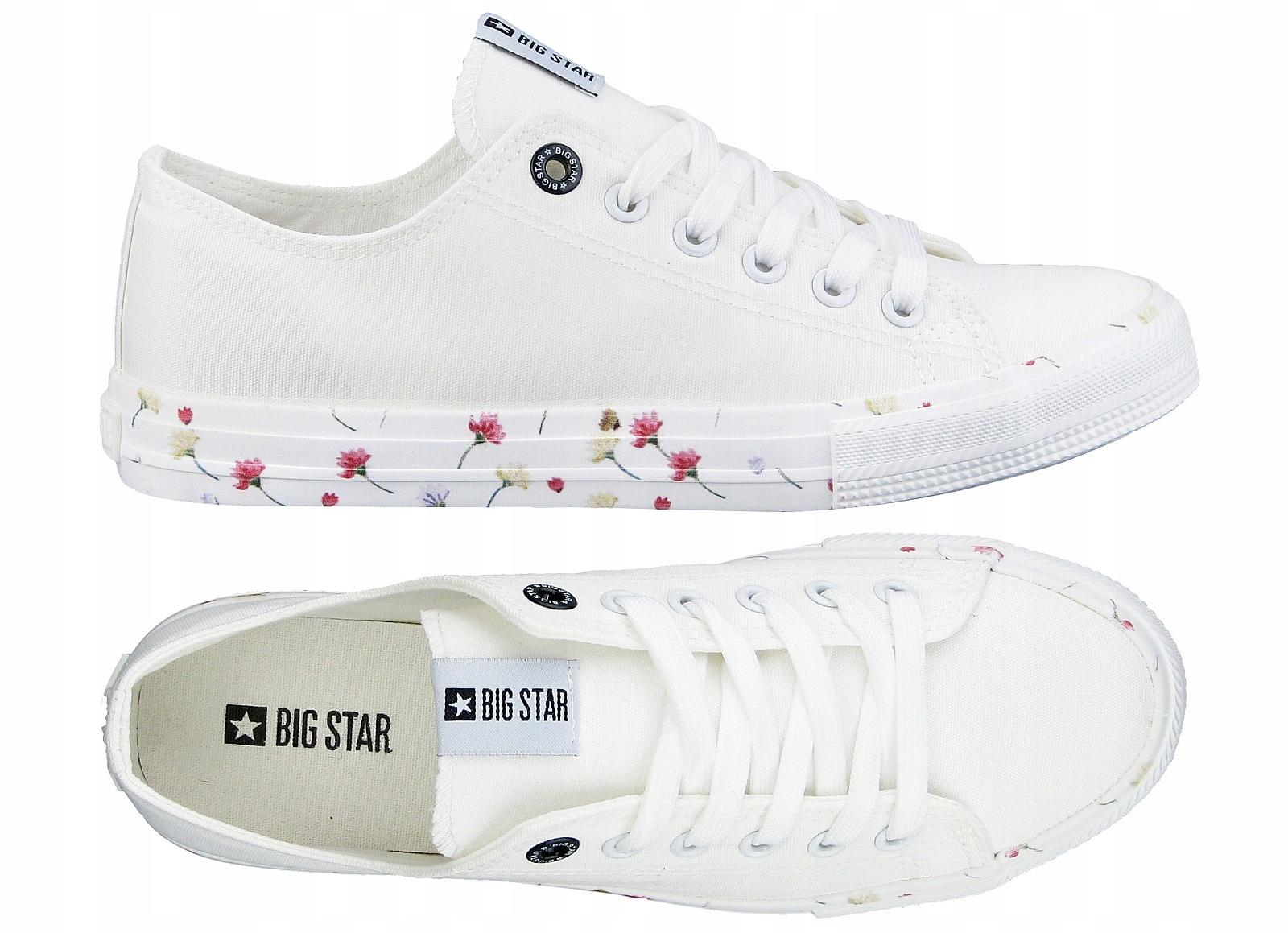 BIG STAR TRAMPKI tenisówki DD274708 białe 38