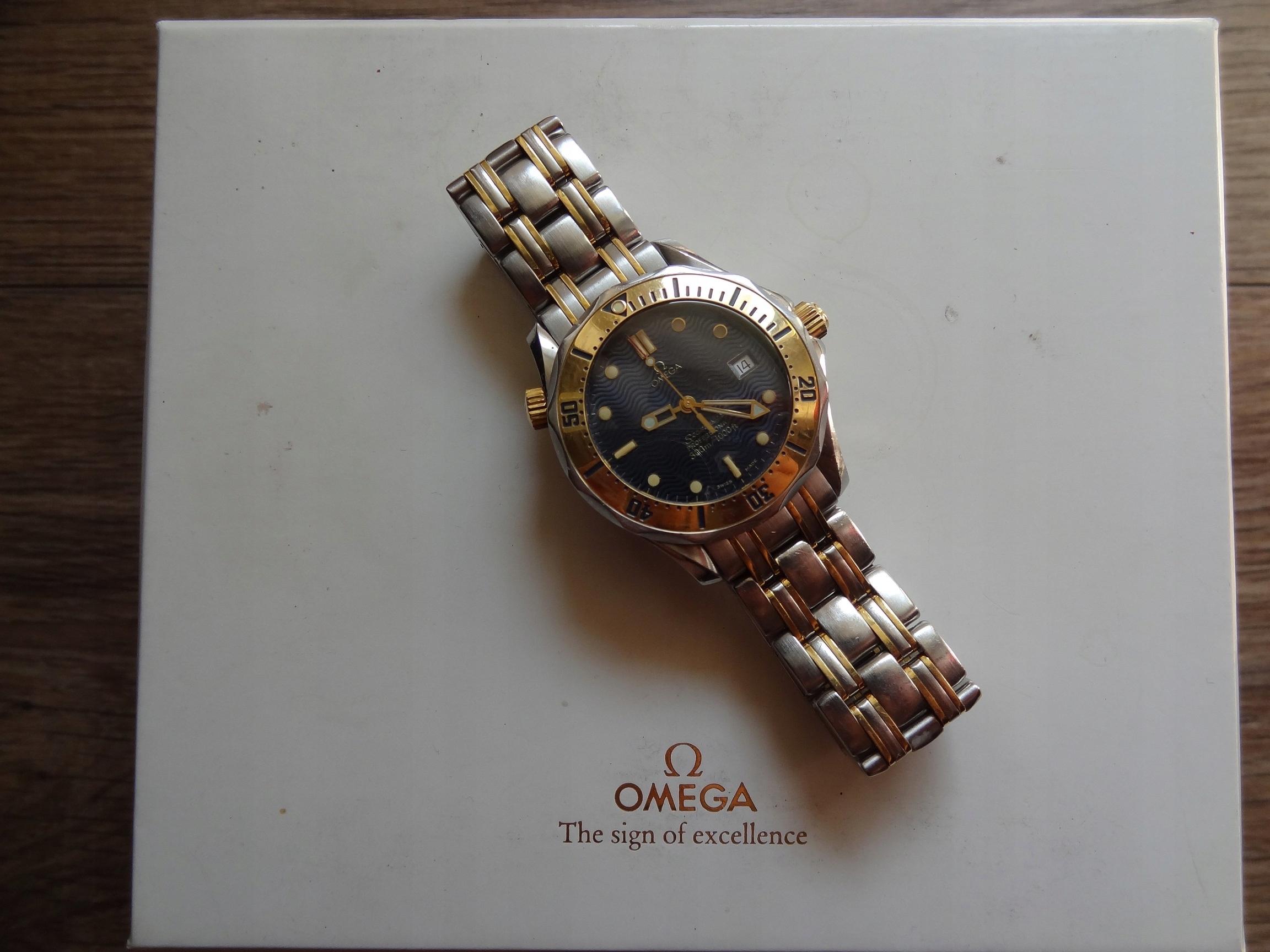 Omega Seamaster Professional 300 , złoto 18k