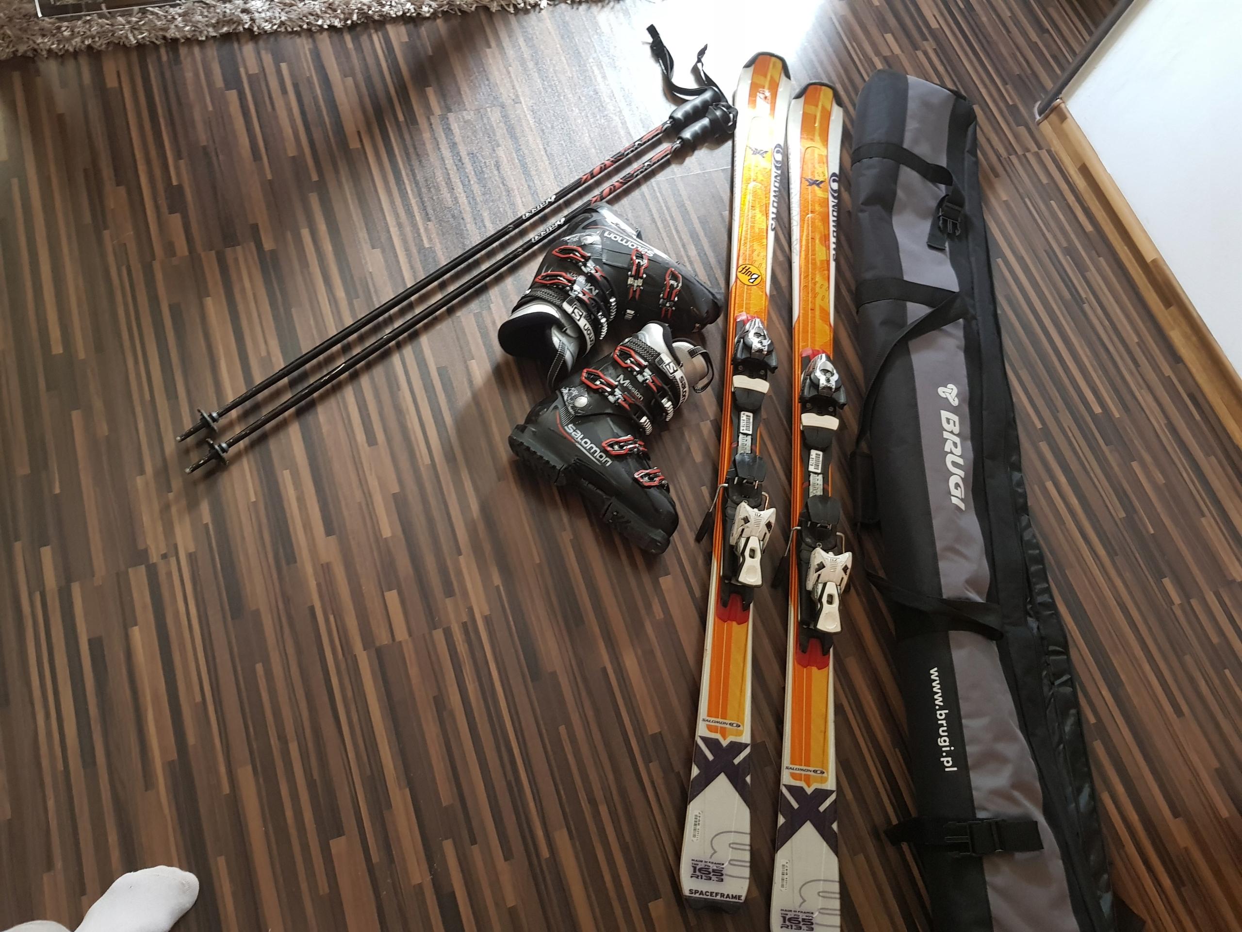 Sprzedam buty narciarskie 27 i narty 165 salomon